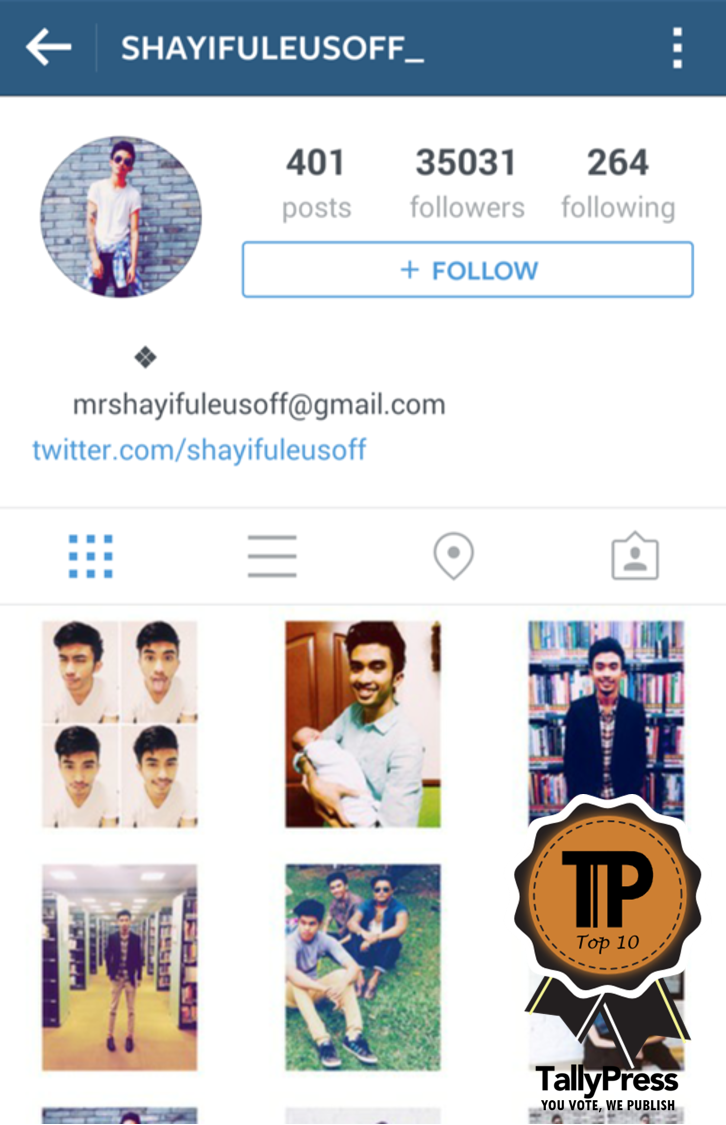 malaysian male instagramers