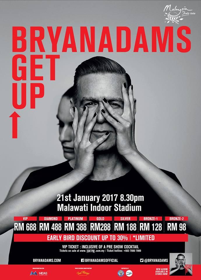 Image Credit: Bryan Adams Live in Kuala Lumpur 2017 Facebook