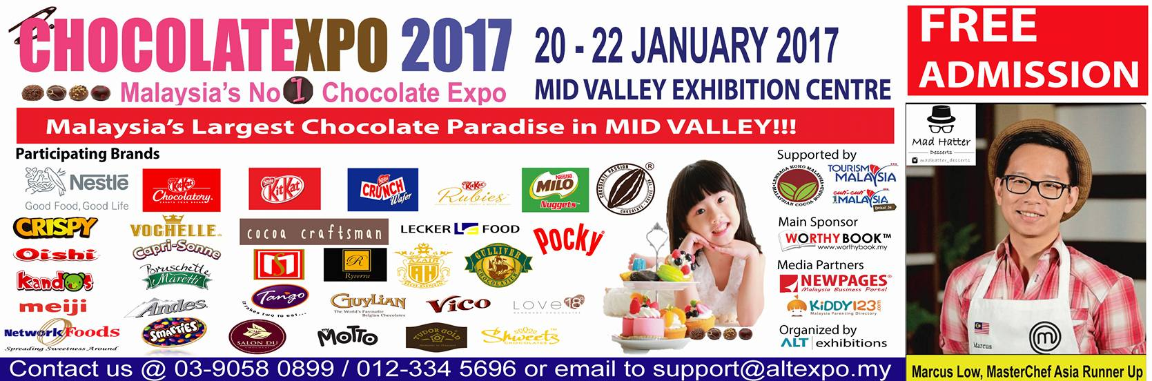 Image Credit: The 1st Malaysia Chocolate Expo 2017 Facebook