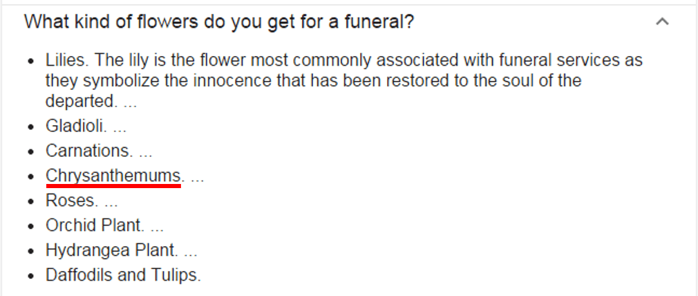 What kind of flowers do you get for a funeral?