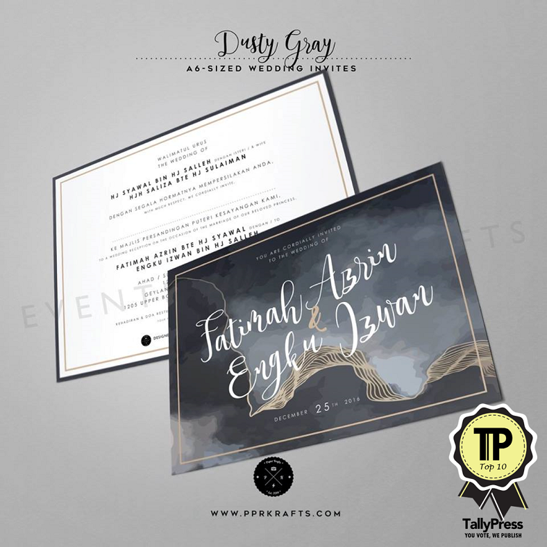 Top 10 Wedding Stationery Makers in Singapore PPR Krafts
