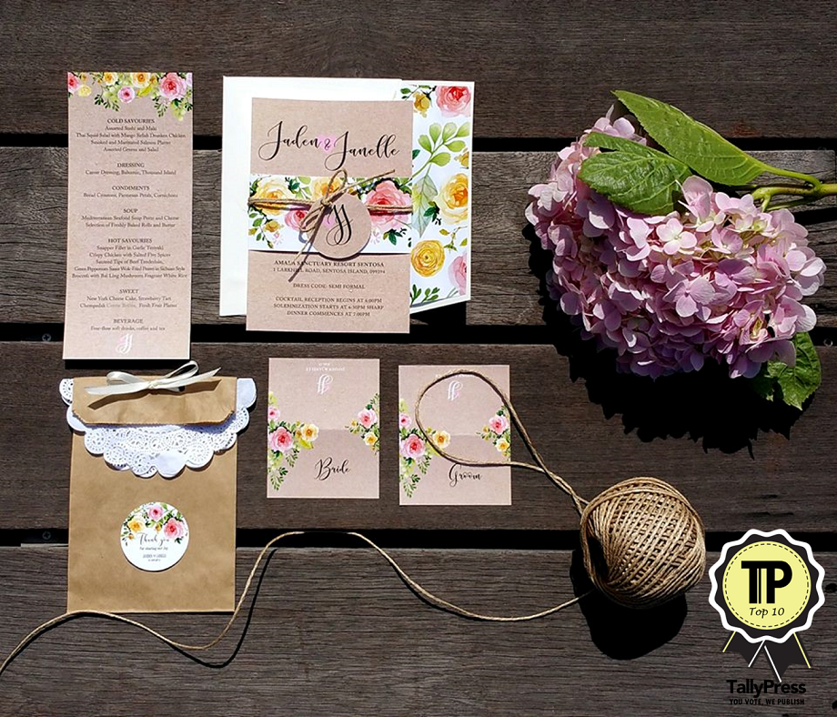 Top 10 Wedding Stationery Makers in Singapore The Card Room