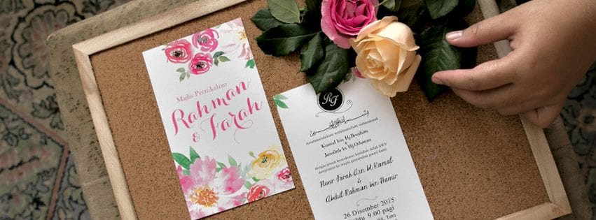 top 10 wedding stationery makers in klang valley tallypress