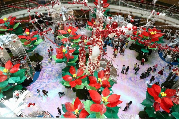 "Walk Through 1 Utama's ""Whimsical Poinsettia Garden"" This Christmas!"