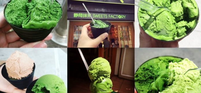 Nanaya's 7-Level Matcha Ice-Cream