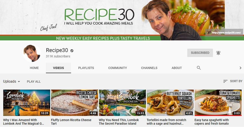 Inspiring Youtube Cooking Channels