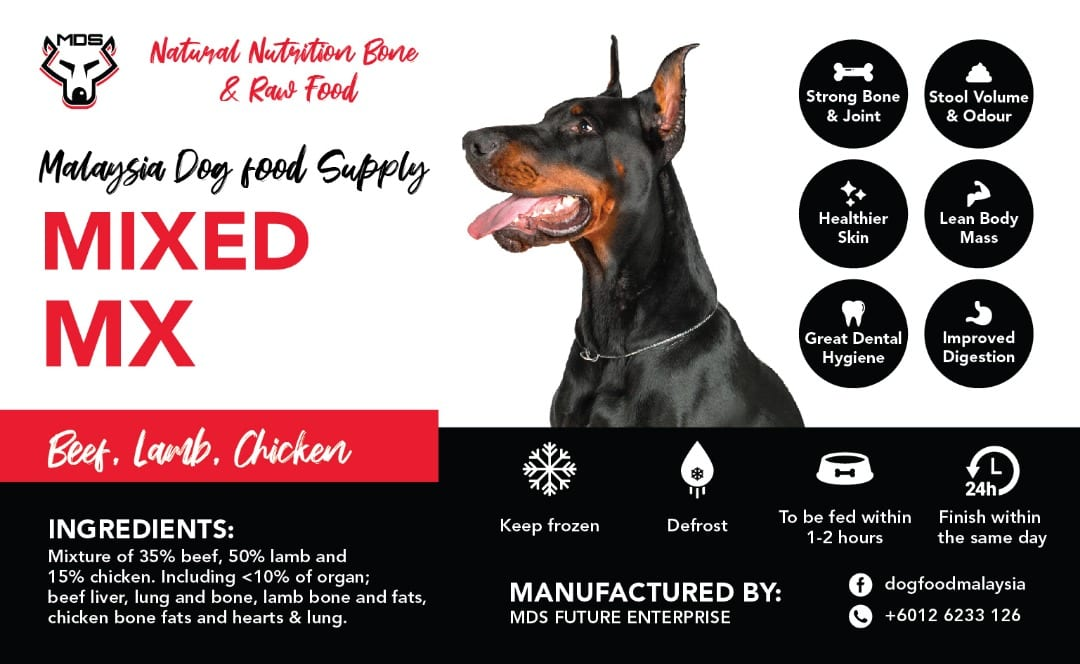 Frozen Raw Dog Food Delivery Malaysia