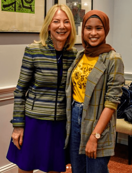 Ezzaty Hasbullah with Dr Amy Gutmann