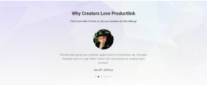 productlink.io website and user review