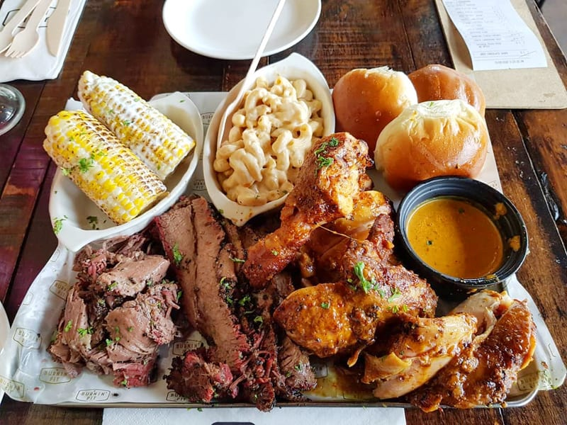 Signature Texas-Style BBQ at Burnin' Pit