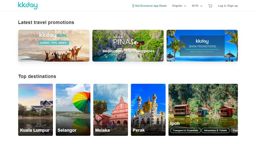 Discover top travel destinations at KKday.K