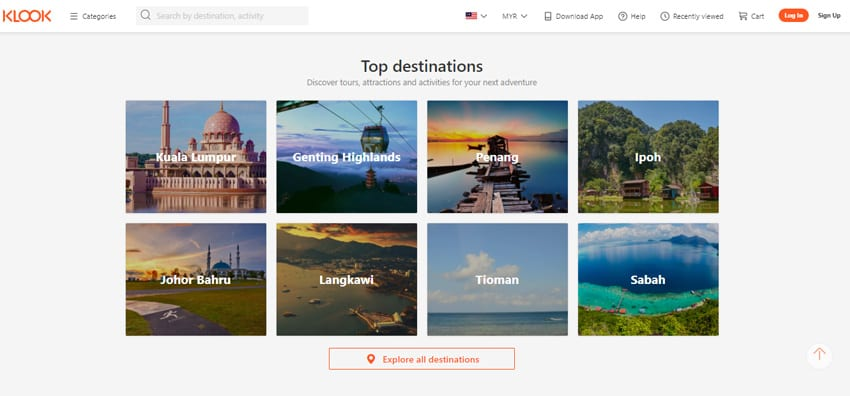 Book your favourite destination at Klook.