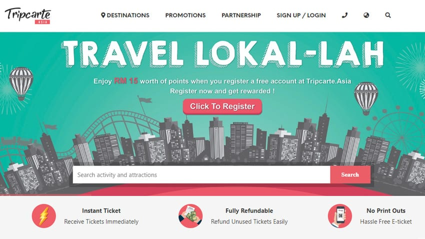 Travel local at an affordable price using the Tripcarte.asia