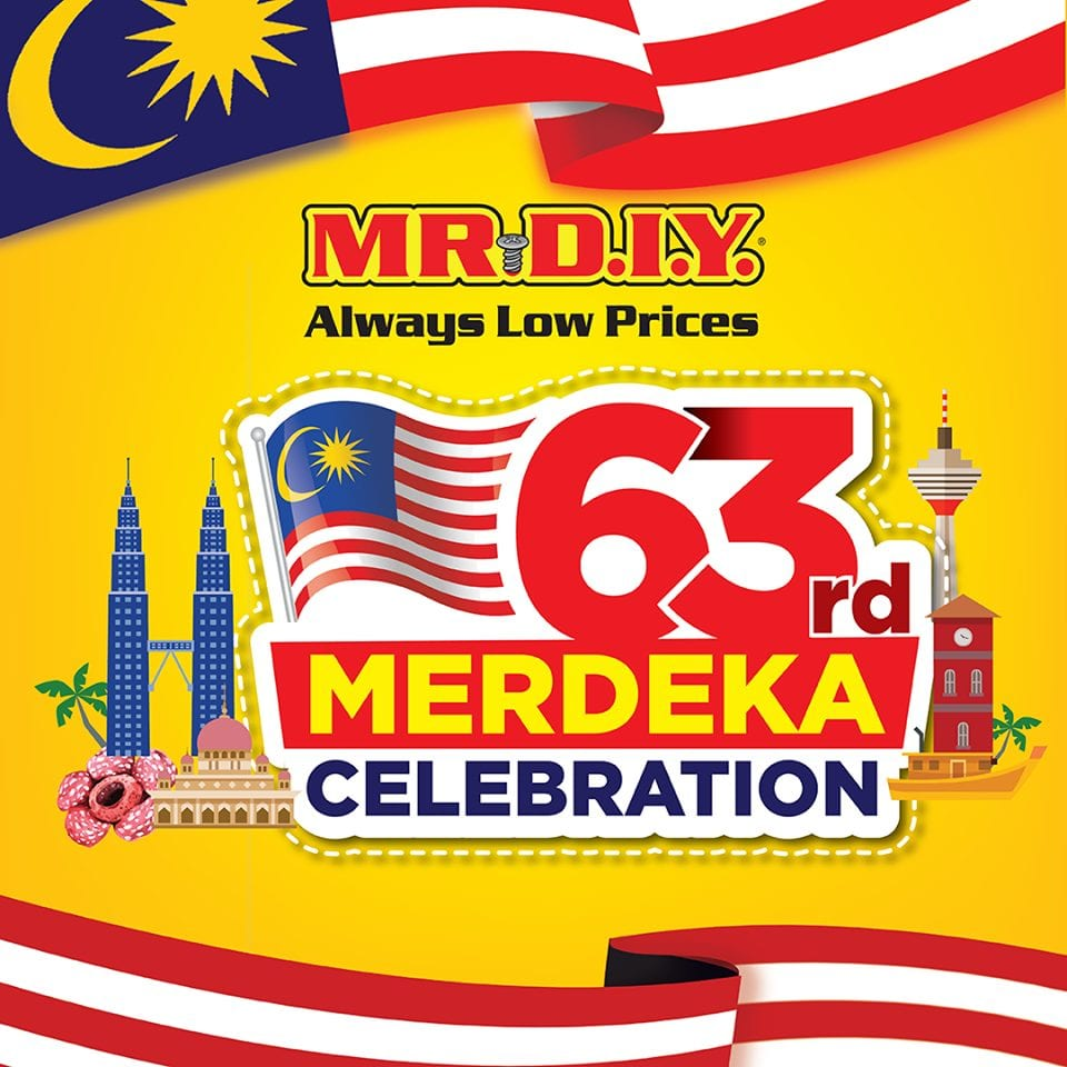 MR D.I.Y. 63rd Merdeka Celebration promotion